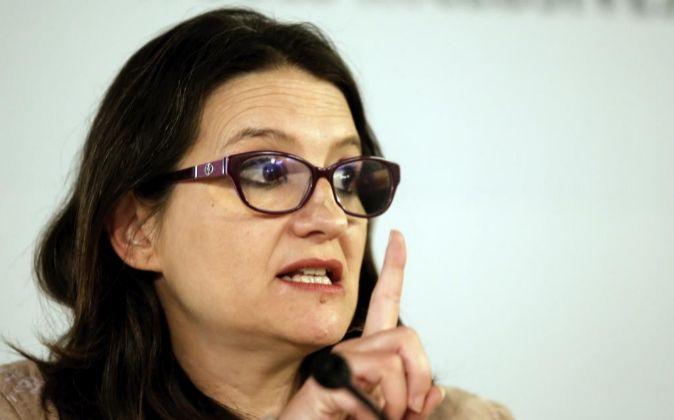 La vicepresidenta del Consell y consellera de Igualdad y Políticas...