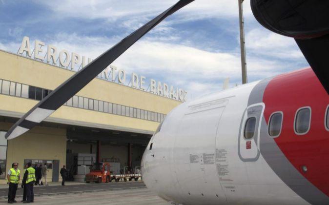 Aeropuerto de Badajoz en Talavera la Real.