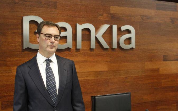 El consejero delegado de Bankia, José Sevilla, durante la...