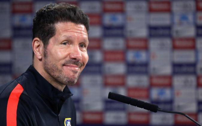 El entrenador del Atlético de Madrid Diego Simeone.