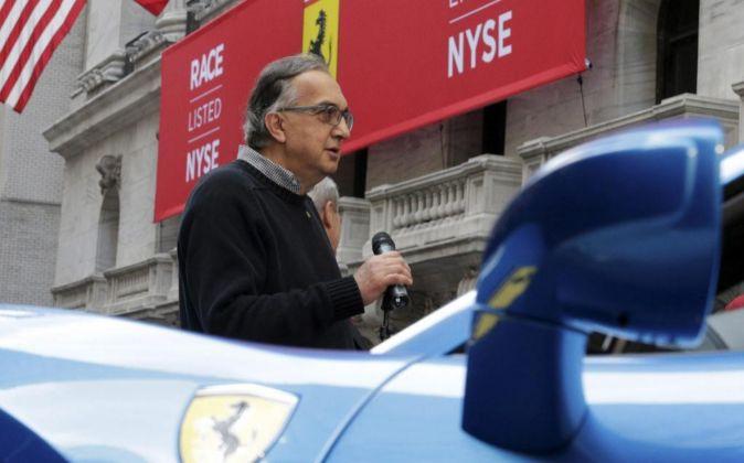 Sergio Marchionne, en el día en el que Ferrari debutó en Wall...