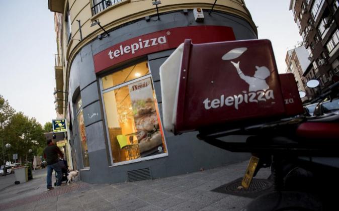 Local de Telepizza en el Paseo de Santa María de la Cabeza, en...