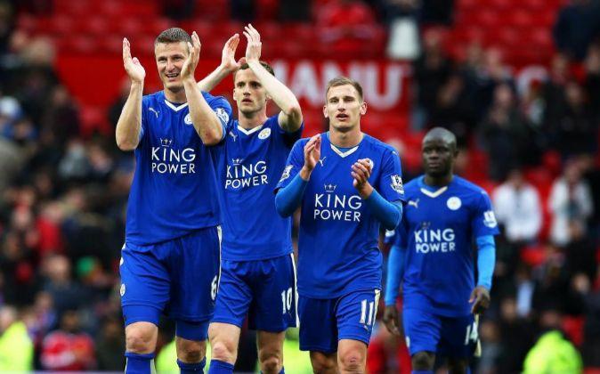 Jugadores del Leicester City.