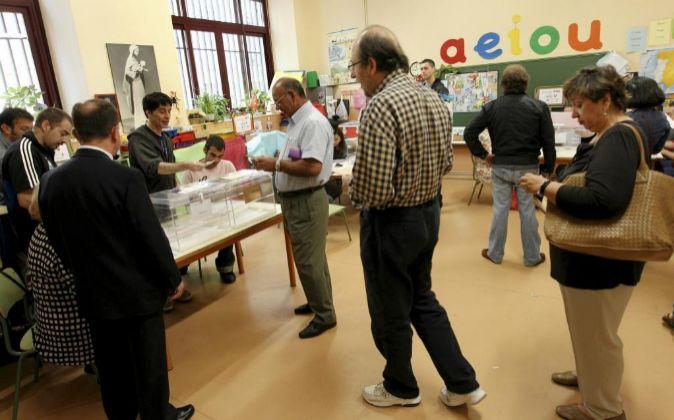 Votantes en Madrid.
