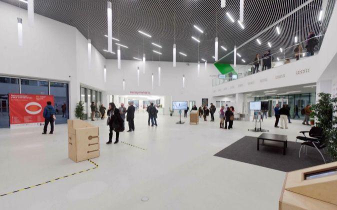 Interior del Centro de Arte y Tecnología Etopia