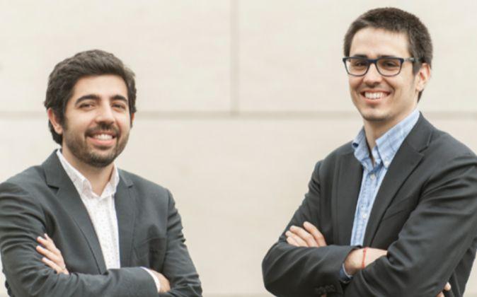 Joan Miquel Anglés y Ramon Molera, junto con dos socios más,...