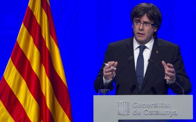 Carles Puigdemont, presidente de la Generalitat de Cataluña.