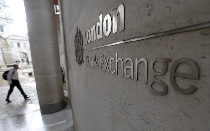 Fachada de la Bolsa de Londres.