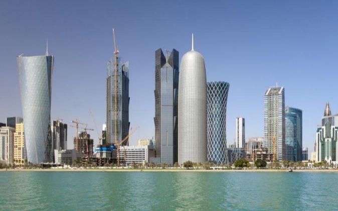 Torres en el distrito financiero de Doha.