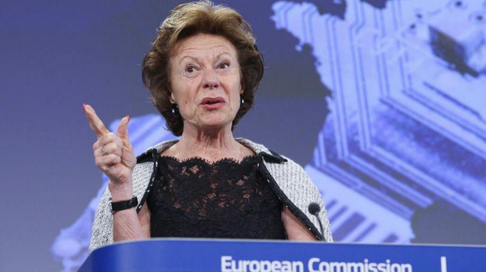 La vicepresidenta de la Comisión Europea y responsable de...