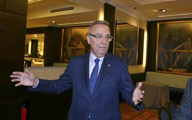 Joan Gaspart, presidente de Husa, en el Hotel Avenida Palace.