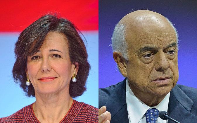 Ana Botín, presidenta de Banco Santander, y Francisco González,...