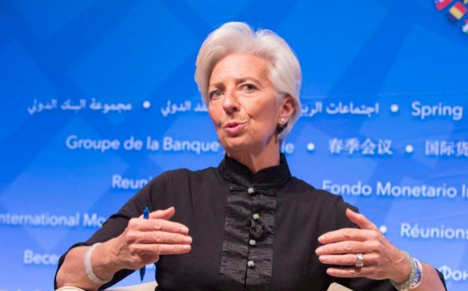 La directora gerente del FMI, Christine Lagarde.