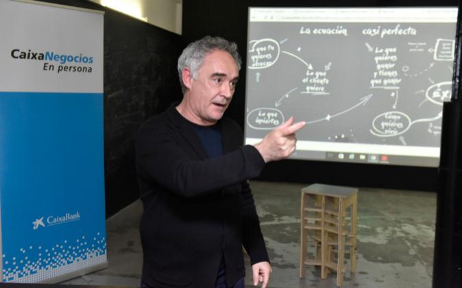 Ferran Adrià en la presentación de su manual 'Mise en Place....