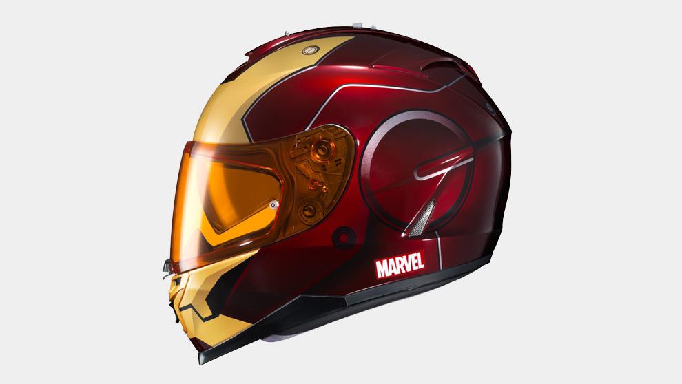Casco imitación a Iron Man de la colección de HJC Hemelts junto a...