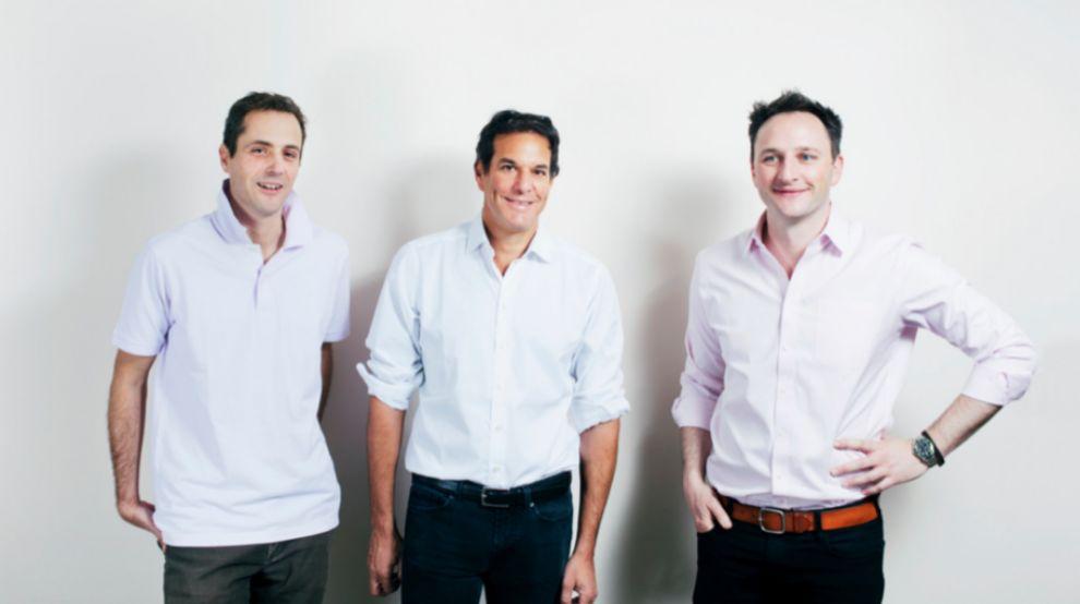 En la imagen, los tres co-fundadores de Founders Factory, Brent...