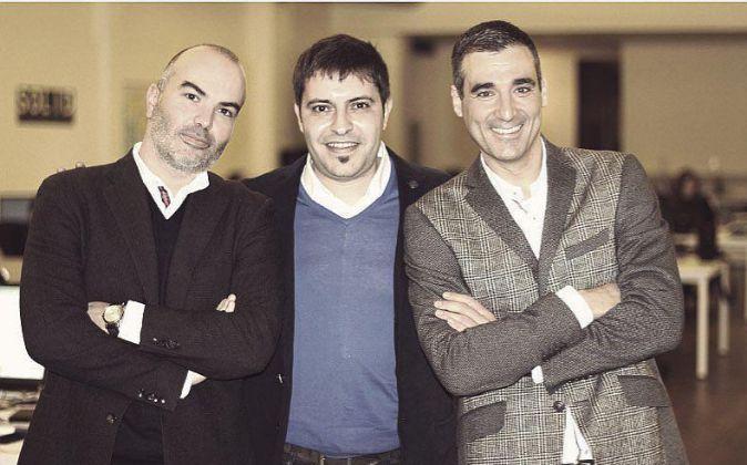 De izda a derecha, Gerard Olivé, Agustín Gomez y Miguel Vicente