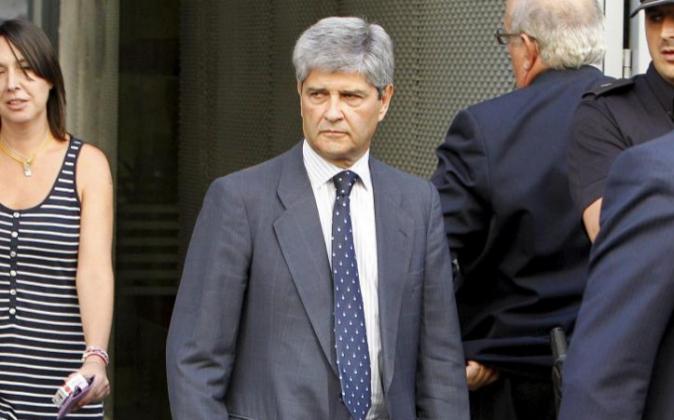 Fernando Martin, saliendo de la Audiencia Nacional.
