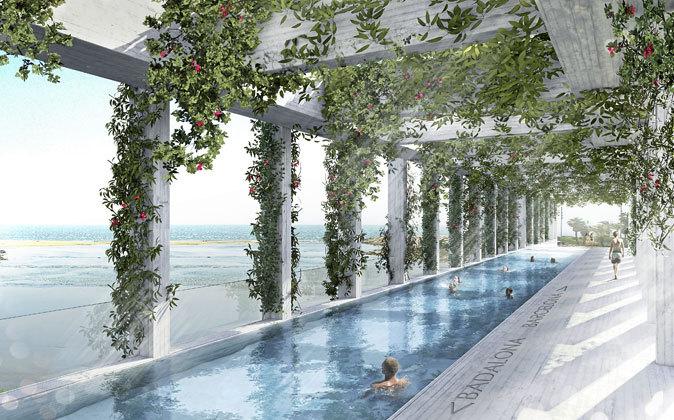 Pool Bridge Besós' fue encargado por el Roca Barcelona Gallery...