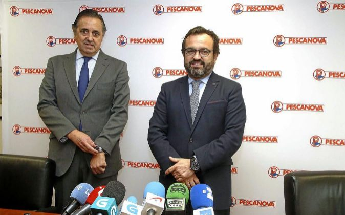 Jacobo González-Robatto, presidente de Nueva Pescanova, e Ignacio...