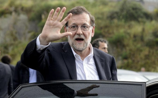 El presidente del Gobierno en funciones y líder del PP, Mariano...