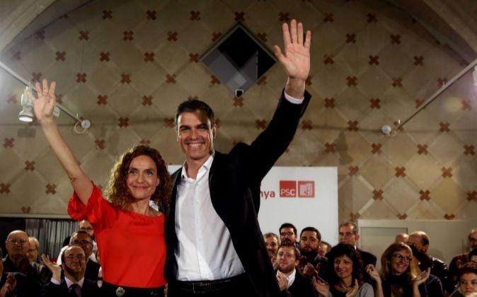 El secretario general del PSOE y candidato socialista a la presidencia...