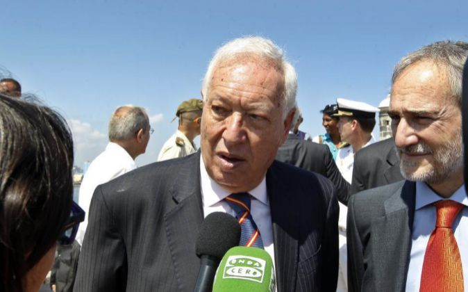 El ministro de Asuntos Exteriores en funciones de España José Manuel...