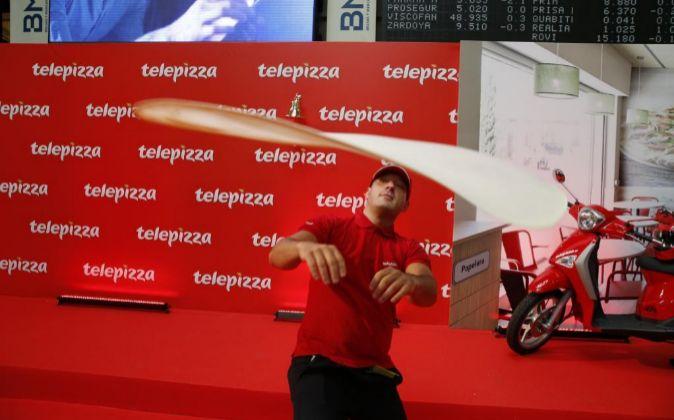 Salida a Bolsa de Telepizza.