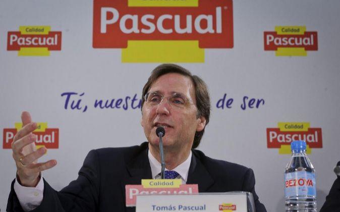 Tomás Pascual, en la presentación de su plan estratégico.