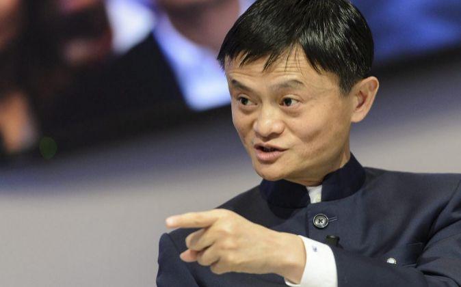 El presidente ejecutivo del grupo chino Alibaba, Jack Ma, en el Foro...