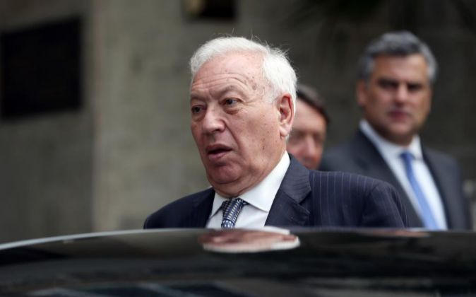 El ministro español de Asuntos Exteriores en funciones, José Manuel...
