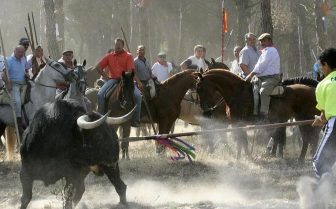 Una imagen del 12 de septiembre de 2006, en la que el lancero Felipe...
