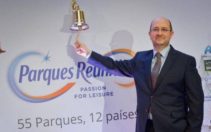 El presidente de Parques Reunidos, Fernando Eiroa, durante la salida a...