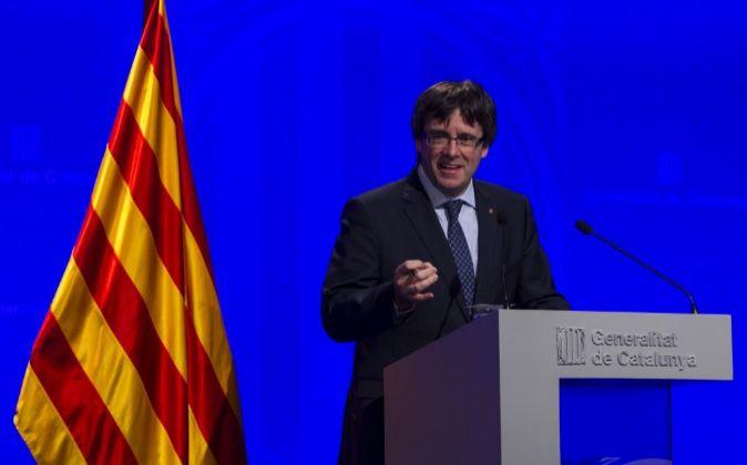 El presidente de la Generalitat de Catalunya Carles Puigdemont.