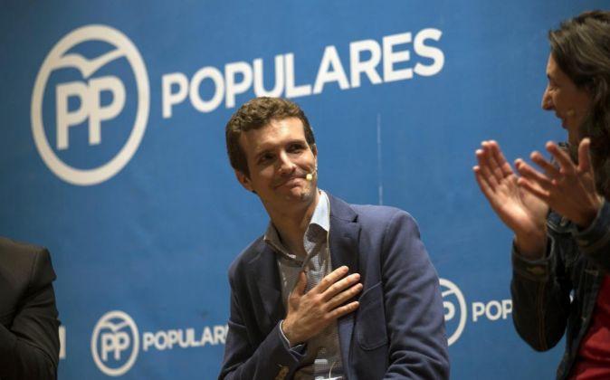El vicesecretario de Comunicación del Partido Popular Pablo Casado.