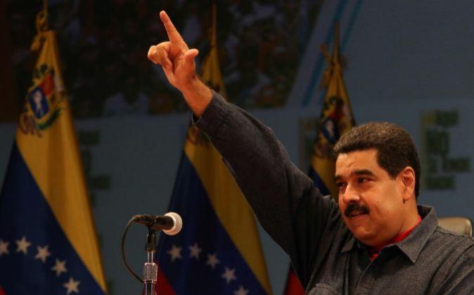 El presidente venezolano Nicolás Maduro durante un acto de gobierno...