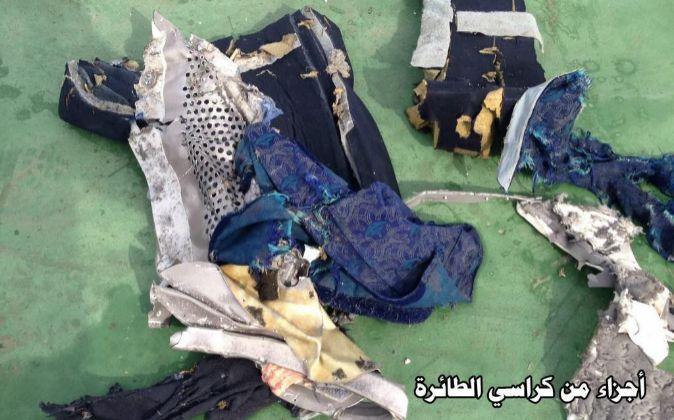 Restos del vuelo EgyptAir MS804.