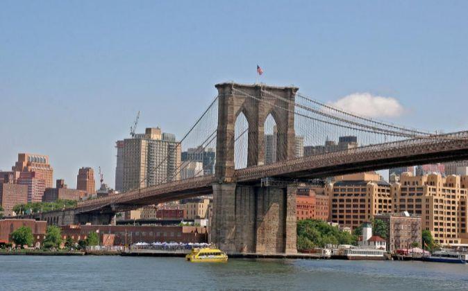 Puente de Brooklyn en Nueva York (EEUU).