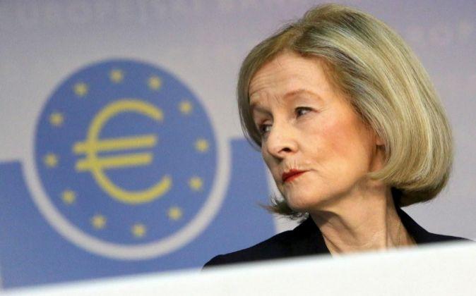 Daniele Nouy, presidenta del consejo de supervisión del Banco Central...