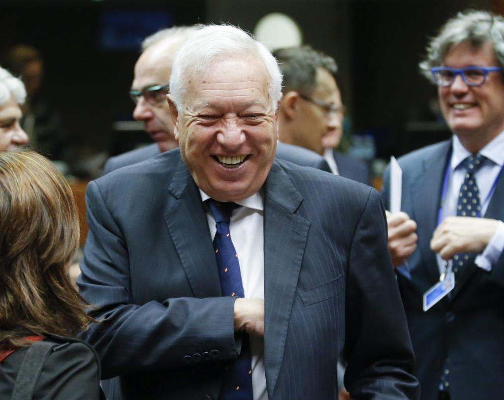 El ministro de Asuntos Exteriores en funciones del Gobierno español,...