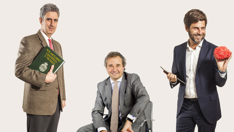 De izquierda a derecha. Ramón Gómez de Olea, responsable en España...