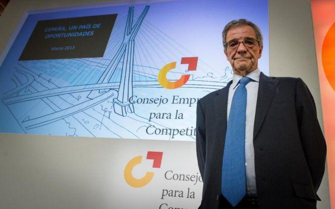 El presidente del Consejo Empresarial de Competitividad y de...