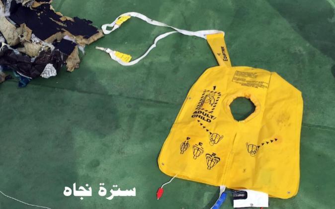 Un chaleco salvavidas encontrado en un lugar no especificado del Mar...