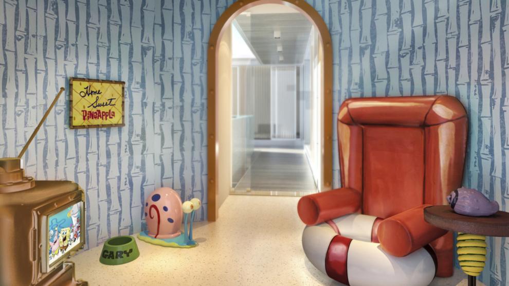 Una de las villas familiares del resort de Nickelodeon está...