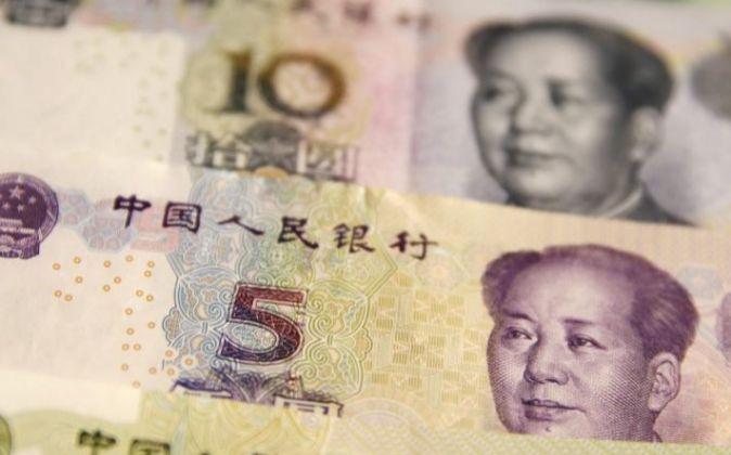 Billetes de yuan chino.