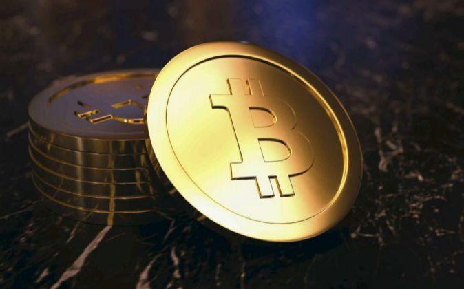 Recreación de la moneda virtual Bitcoin.
