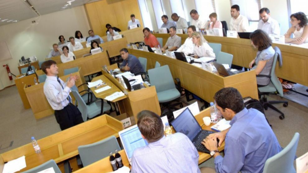 Alumnos de Executive MBA en el campus barcelonés de Esade.