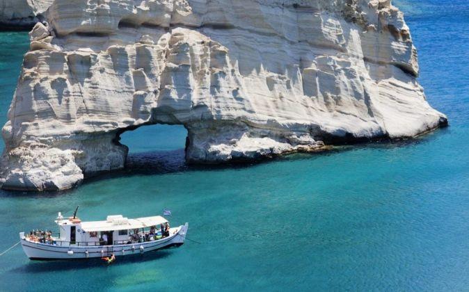 Isla de Milos, en Grecia.