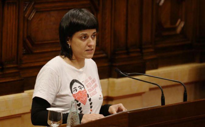 Ana Gabriel de la CUP en el Pleno del Parlament.