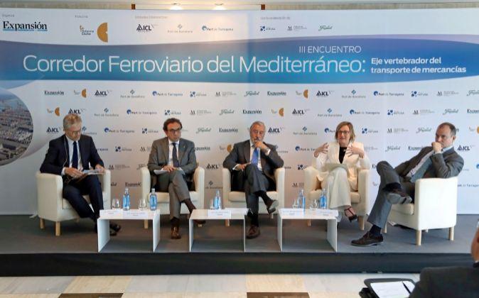 El director adjunto de Expansión, MartíSaballs; el conseller de...